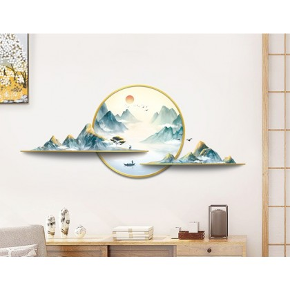 chinese style mountains feng shui background wall art decoration sticker