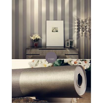 Grey Purple Stripe Pattern Wallcovering Home Decoration Wallpaper