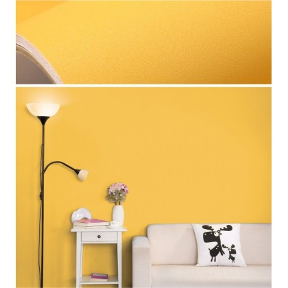 (Plain) Yellow Matte Background Furniture Refurbished Contact Paper PVC Self-Adhesive Waterproof Wallpaper Sticker