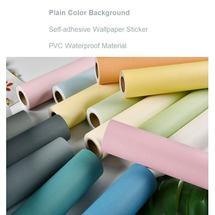 (Plain) Color Pink Background Furniture Refurbished Contact Paper PVC Self-Adhesive Waterproof Wallpaper Sticker