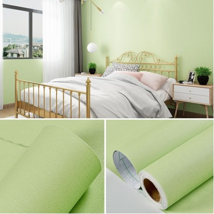 (Plain) Color Green Background Furniture Refurbished Contact Paper PVC Self-Adhesive Waterproof Wallpaper Sticker