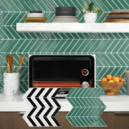 3D Modern Wall Tile Stickers Design Kitchen Bathroom Waterproof Self-Adhesive Decoration