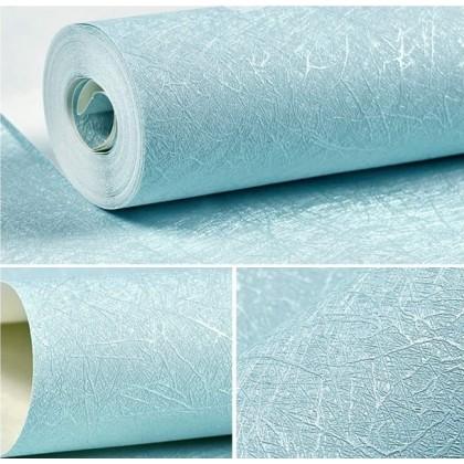 (Plain) Blue Background Waterproof Furniture Renovation Self-Adhesive PVC Wallpaper Sticker