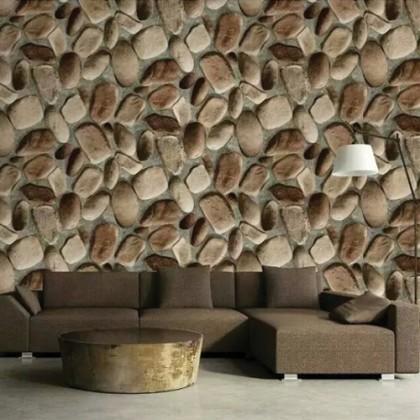 3D Visual Rock Vintage Wallcovering Home Decoration Wallpaper