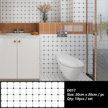[Hot]Floor Tiles Stickers Self-adhesive Wall Decorative Bathroom Kitchen Waterproof Wear-resistant Non-slip Floor stick