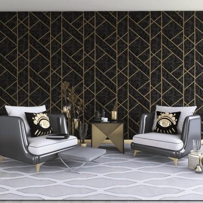 Modern Web Abstract Wallpaper Non Adhesive Home Wallpaper