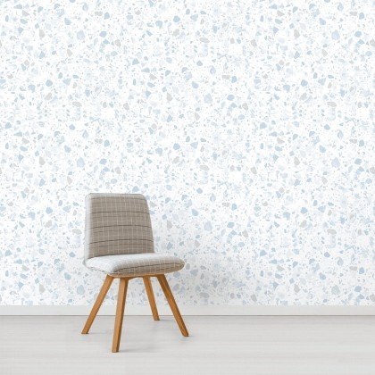 Terrazo Dewy Stone Wallpaper Non Adhesive Home Wallpaper