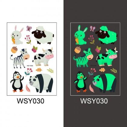 Kids Luminous Stickers Waterproof Temporary Tattoo Cute Dinosaur Unicorn Mermaid Children Cartoon Tattoo Stickers