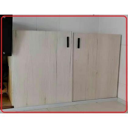 (Wood) Modern Wood Texture Wallpaper Sticker Furniture Renovation Kitchen Cabinet Waterproof PVC Self-Adhesive Wallpaper Sticker