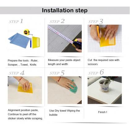 (Plain) Feather Pattern White Background Wallpaper Sticker Furniture Renovation Kitchen Cabinet Waterproof PVC Self-adhesive Wallpaper Sticker