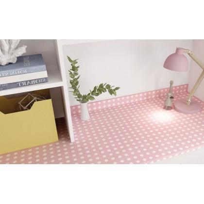 (Plain) Polka Dot Pattern Pink Color Background Wallpaper Sticker Furniture Renovation Kitchen Cabinet Waterproof PVC Self-adhesive Wallpaper Sticker