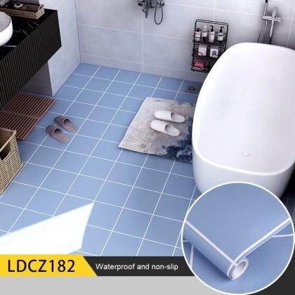 Floor Wallpaper Stickers Self-adhesive Kitchen Bathroom Balcony Oil and Waterproof Floor Stickers Anti-slip Wear Resisting