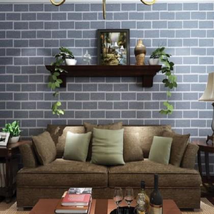 3D Convex Bricks Texture Wallcovering Wallpaper Home Decoration