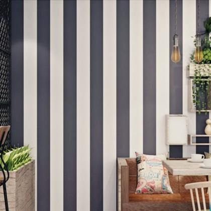 Dark grey stripe contact paper waterproof wallpaper sticker