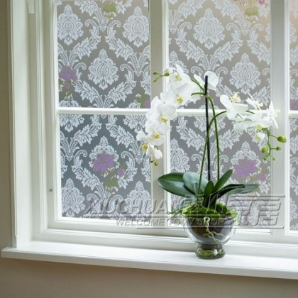 Flower Window Shading Film  Window Film Privacy Frosted Static Decoration Films Self Adhesive for UV Blocking Heat Control Window Stickers