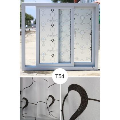 Circle Pattern Background Window Shading Film Tinted Decoration Films Self Adhesive for UV Blocking Heat Control Window Stickers [Size: 90cm x 100cm]