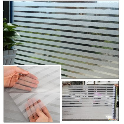 Stripes Frosted Glass Office or Window Grilles Film Tinted half Privacy