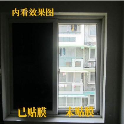 Blackout Film Window Tinted Rabbitgoo Window Film Blackout ANTI UV Privacy Window Cling Dark Window Tinting Film Non-Adhesive Window Sticker Light Blocking [Size : 60cm x 100cm]