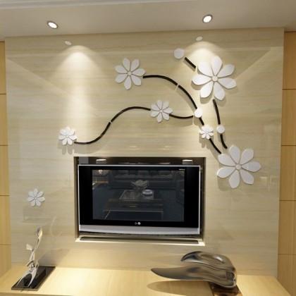 3D Acrylic Modern Flower Wall Decoration-AC242
