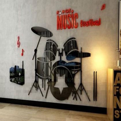 3D Acrylic Music Festival Backdrop Wall Sticker-AC06