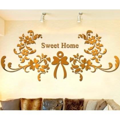 3D Acrylic Sweet Home Decor Wall Sticker-1157