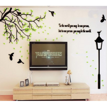 3D Acrylic Spring Tree Wall Decoration-AC319
