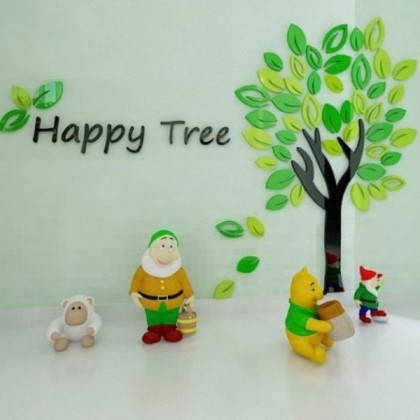 Happy Tree 3D Crystal Acrylic Wall Sticker-AC220