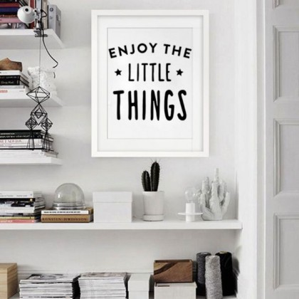 Enjoy the Little Things Wall Sticker (Die Cut)-TY3120