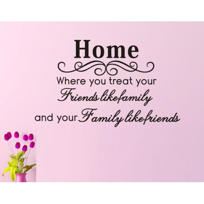 Creative Home and Friendship Wall Sticker-TY8049