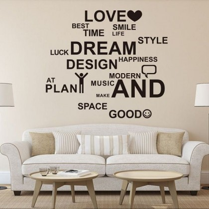 68cm x 77cm Inspirational Quotes Vinyl Wall Art Sticker for Office Living Room Home Decor