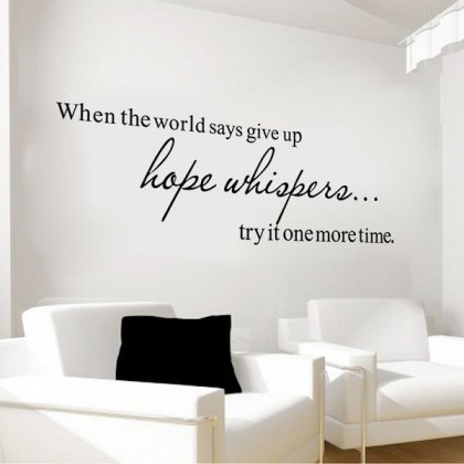 20cm x 58cm  Inspirational Quotes Vinyl Wall Art Decoration for Office Living Room