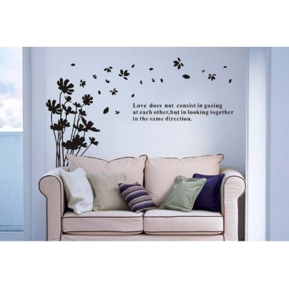 Flower Fly First Generation Art Wall Stickers- TZ1314