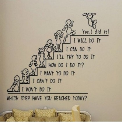 """Yes I Did It"" First Generation Art Wall Sticker- TY810"