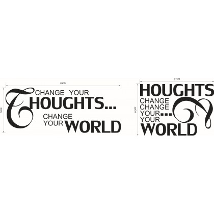Change Your Thoughts...Cutting Wallstickers