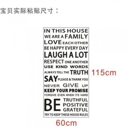 Inspirational Alphabet English Wall Sticker-TZ9908