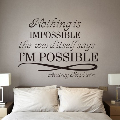 """Nothing Is Impossible"" Wallsticker- TY9195"