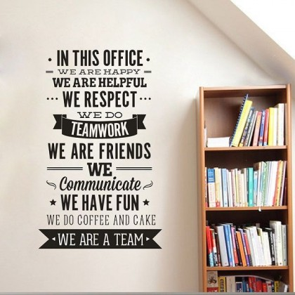 100cm x 58cm Team Office Inspirational Wall Art Sticker Decoration