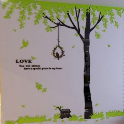 Love Tree and Bird 3D Acrylic Wall Sticker-AC312