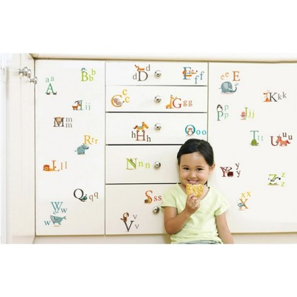 Animals & English Alphabet Education Sticker -TY877