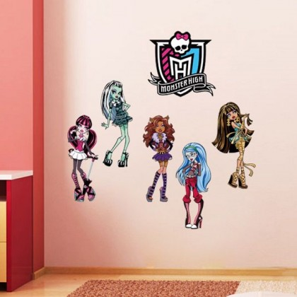 Beautiful Monster Girls Wall Home Sticker