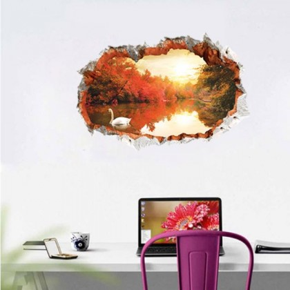 3D Fake Window Wall Stickers- TYAW3022