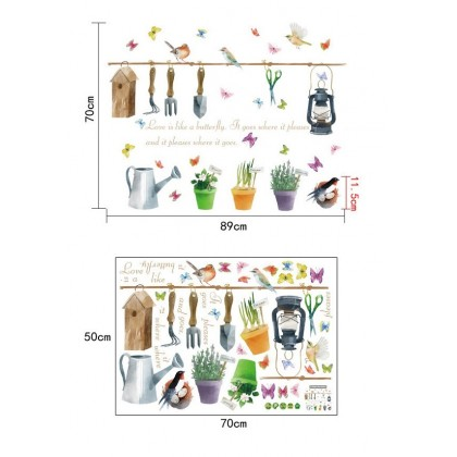 Beautiful Garden Potted Wall Art Decoration Stickers
