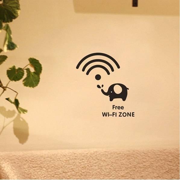 Creative Free Wifi Zone Home Decoration Sticker-TYK34