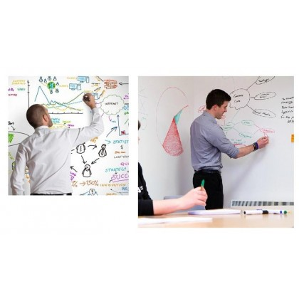PVC Removable Erasable Whiteboard Stickers for school office home door glass use -60cm X 2meters