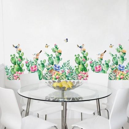 Beautiful Cactus Background Wall Art Decoration- TYSK9290