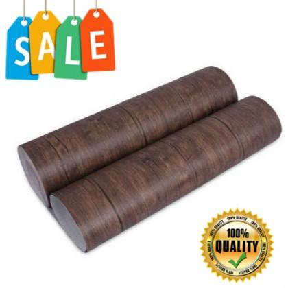 (Wood) DARK BROWN WOOD TEXTURE WALLPAPER STICKER