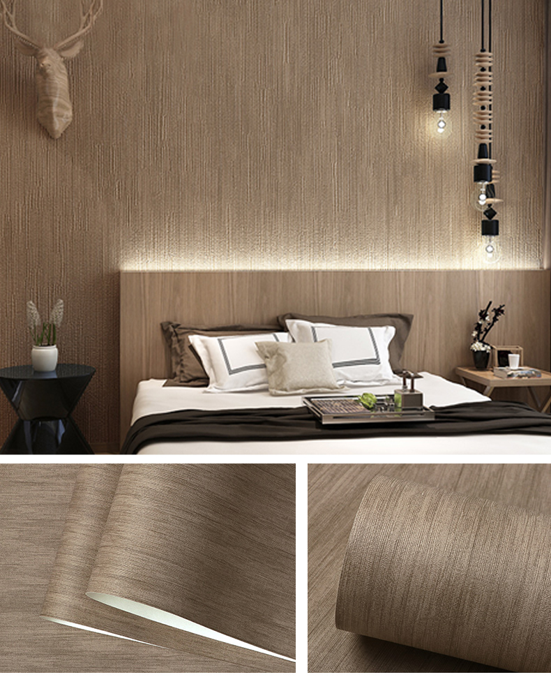Japanese Style Dark Brown Wallpaper for Bedroom and Living ...
