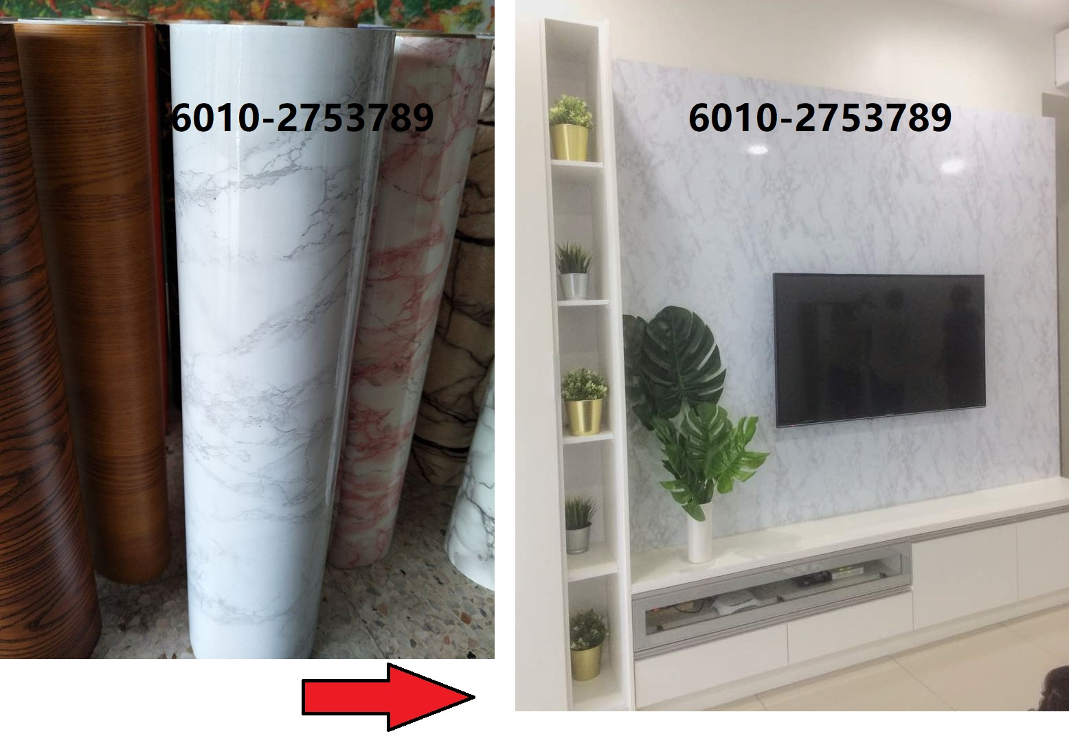 - Marble) Waterproof White Marble Contact Paper Wallpaper Sticker