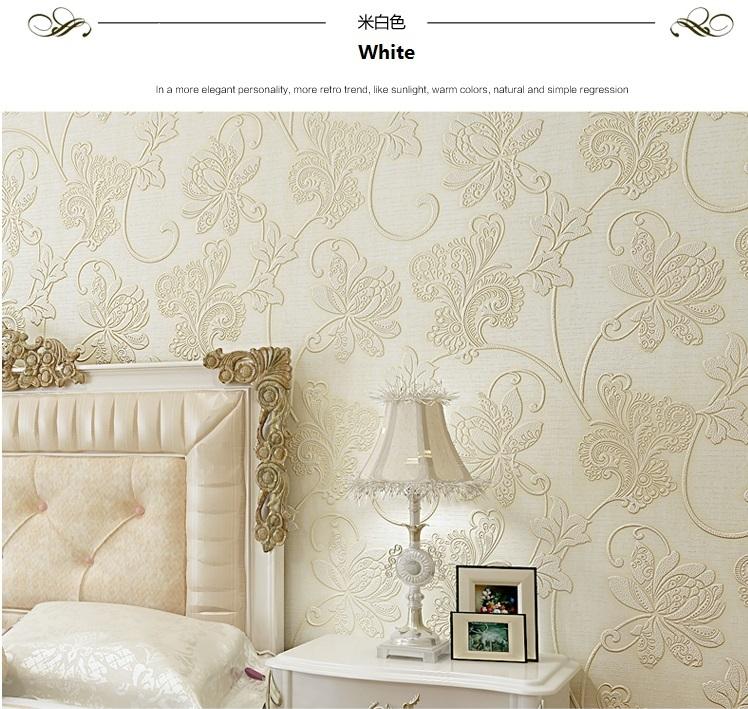 non self-adhesive floral design wallpaper - 550206