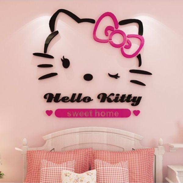 Hello Kitty Acrylic Wall Sticker Ac412